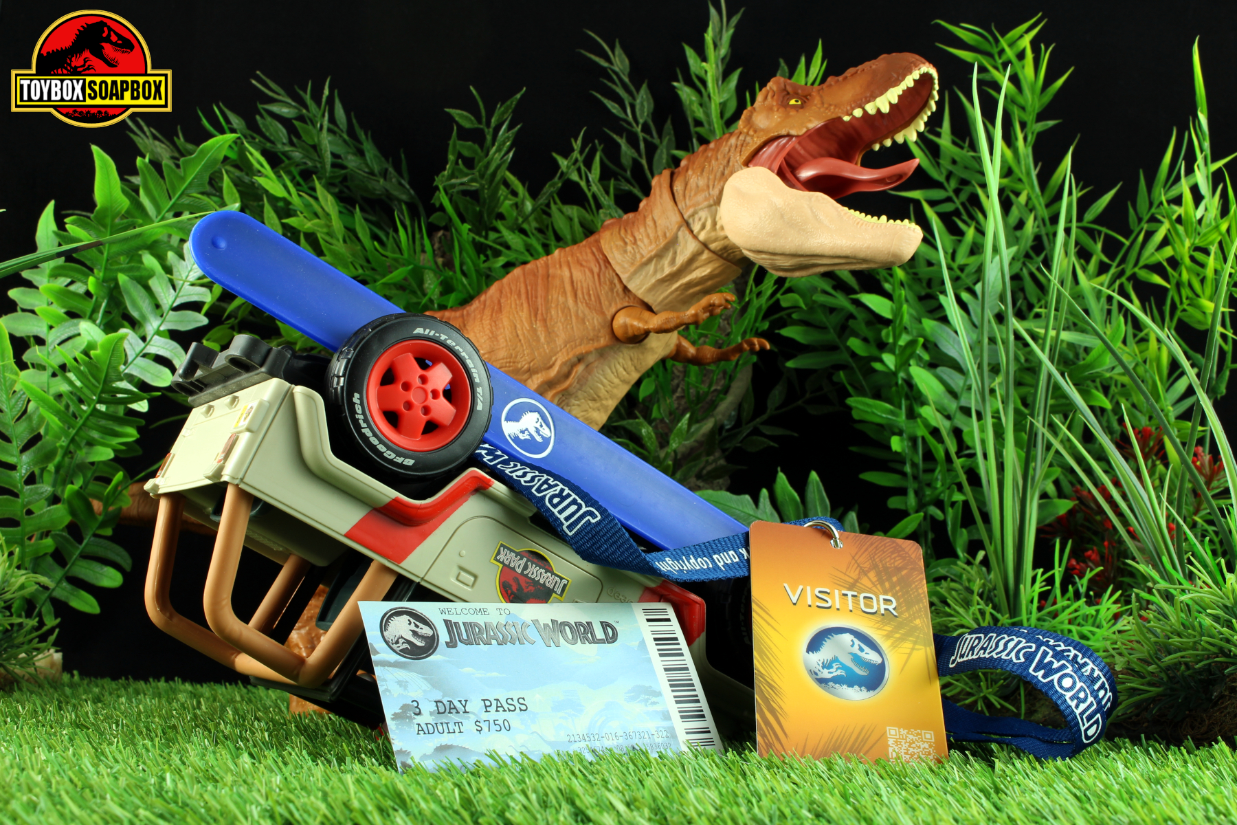 deluxe jurassic world welcome kit ticket snap band and lanyard