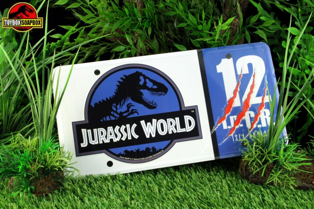 jurassic world license plate