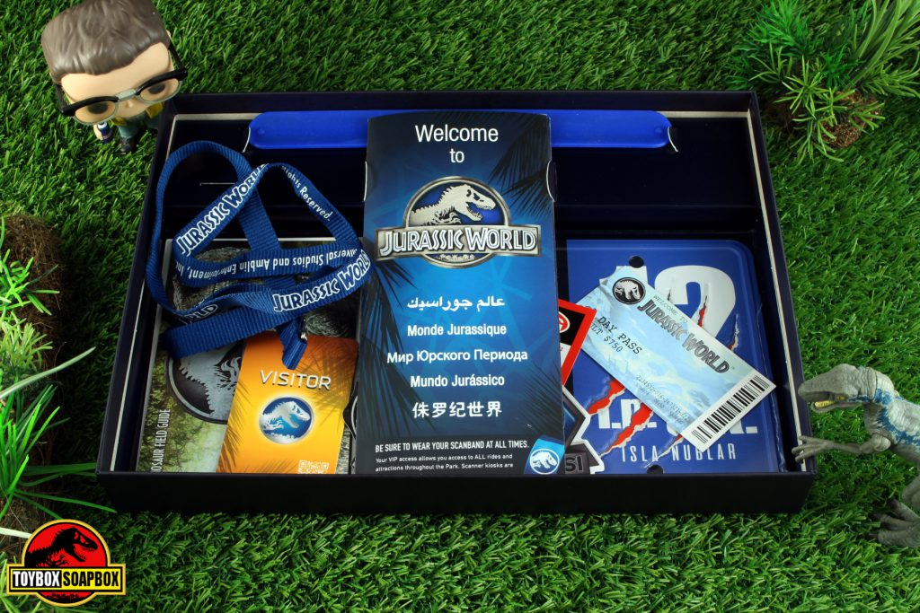 doctor collector jurassic world welcome kit deluxe contents