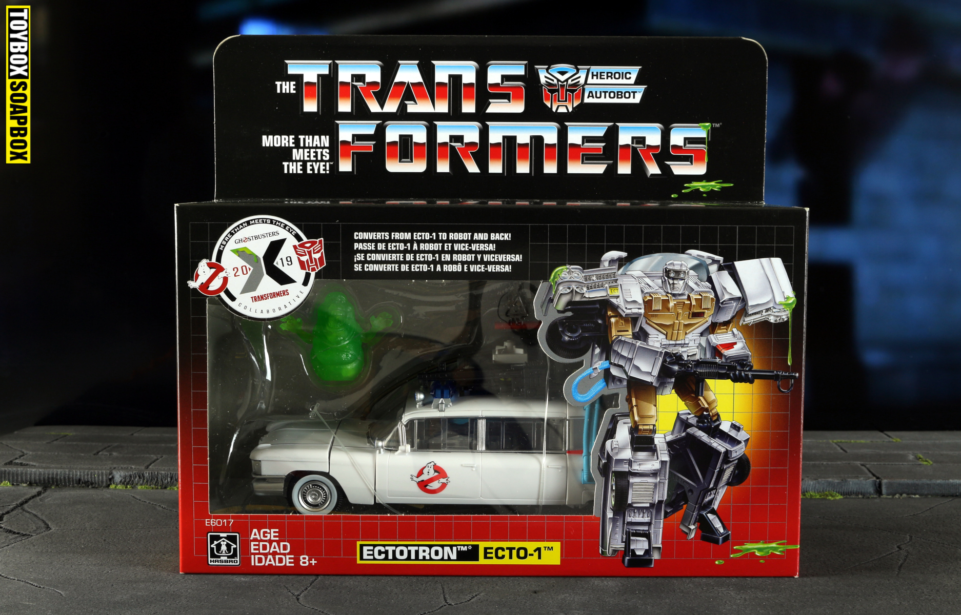 Ectotron ghostbusters transfromers box front
