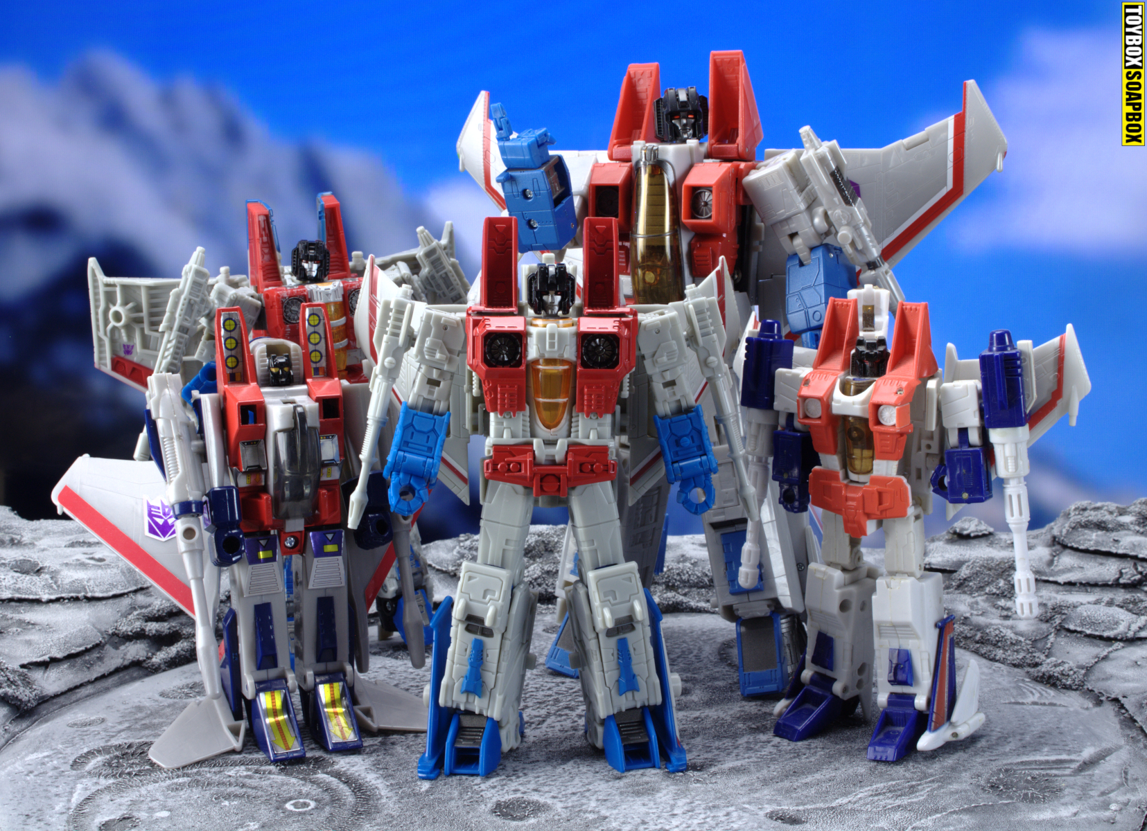 transformers earthrise starscream masterpiece G1 generations comparison