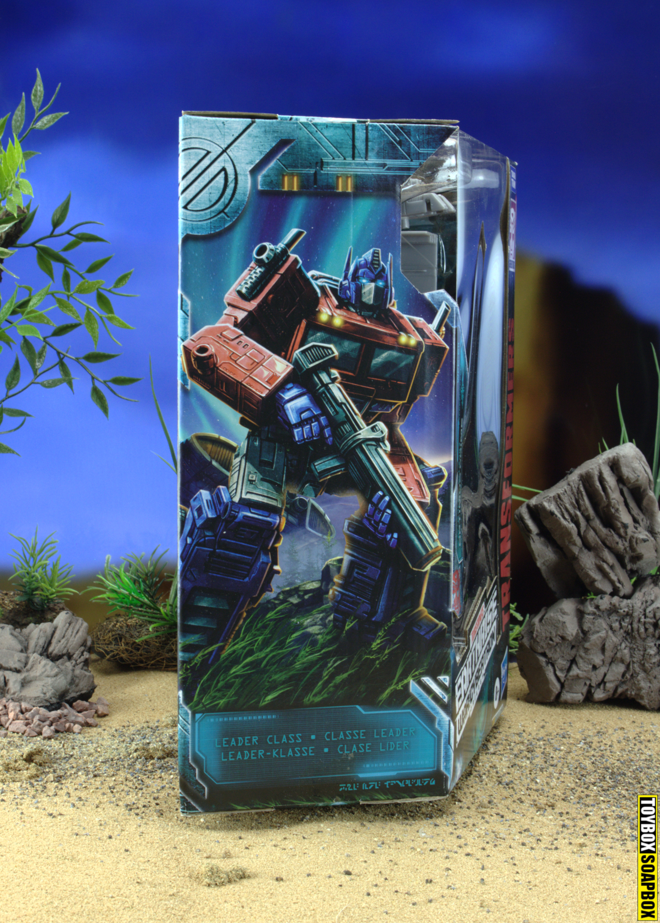 earthrise optimus prime box side