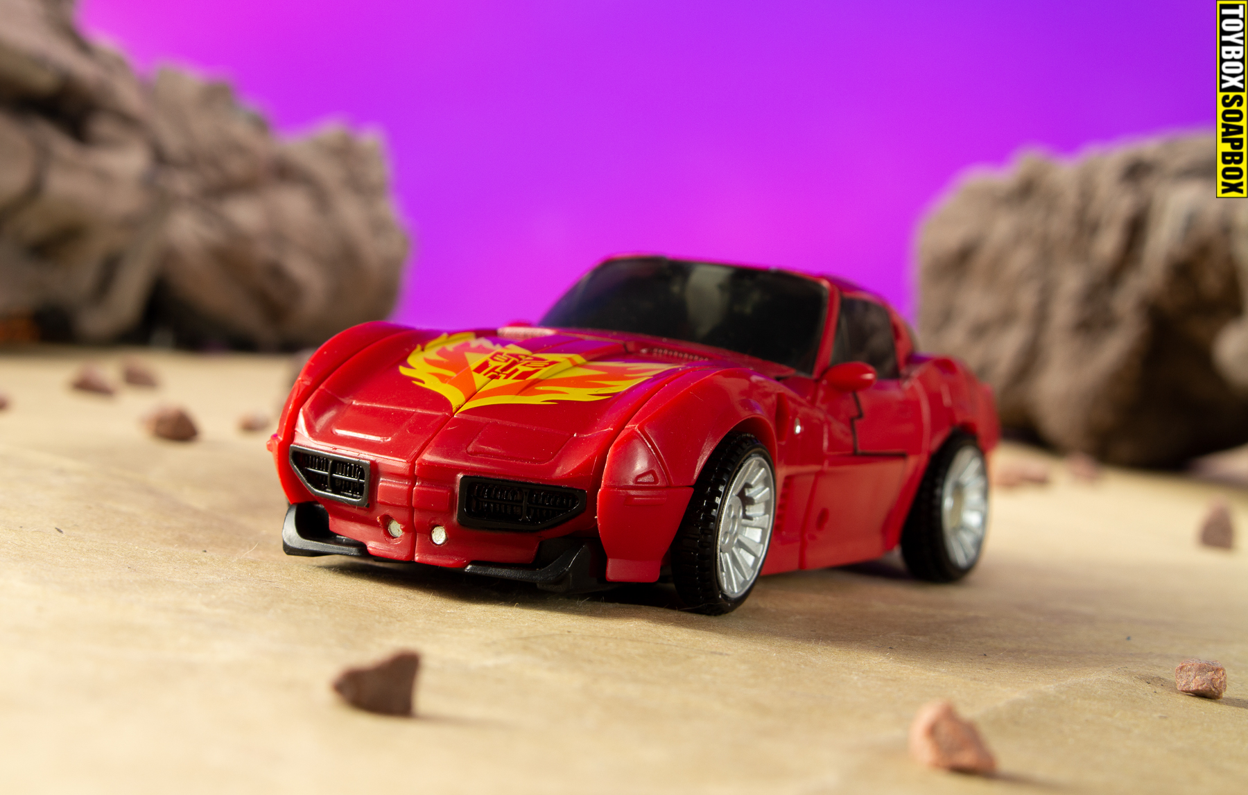 road rage transformers corvette